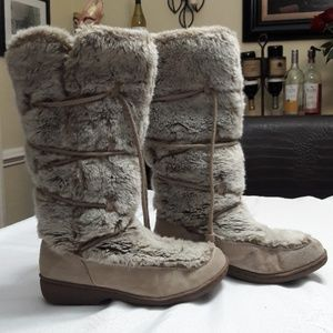Sam Edelman fur lined and suede boots